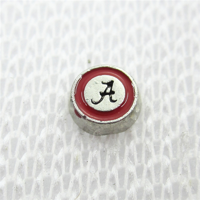 various colors 08010 cf158 Wholesale 20pcs/lot Alabama crimson tide Floating Charms Living Glass  Memory Floating Lockets DIY Jewelry NCAA sports Charms-in Charms from  Jewelry & ...