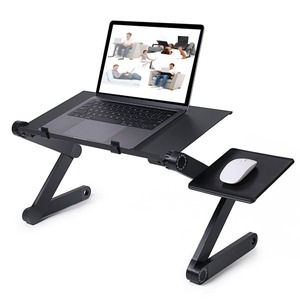 VIP Folding Portable Laptop Desk Ergonomic Aluminum Bed Laptop Stand PC Table Notebook Table Desk Stand With Mouse Pad