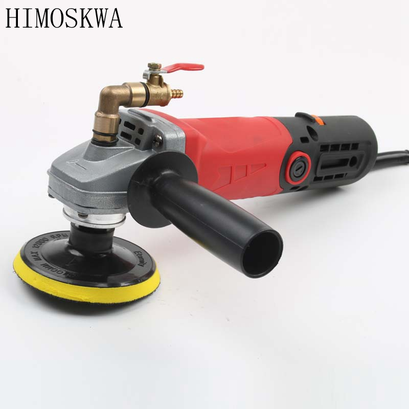 цены HIMOSKWA Variable Speed Water Mill Portable Water Filled Grinding Machine Electric Stone Hand Wet Polisher Grinder