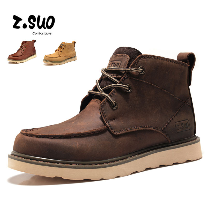 2017 new high-quality men's British men's boots warm and comfortable large size boots autumn and winter leather men's boots e0980  high quality comfortable and