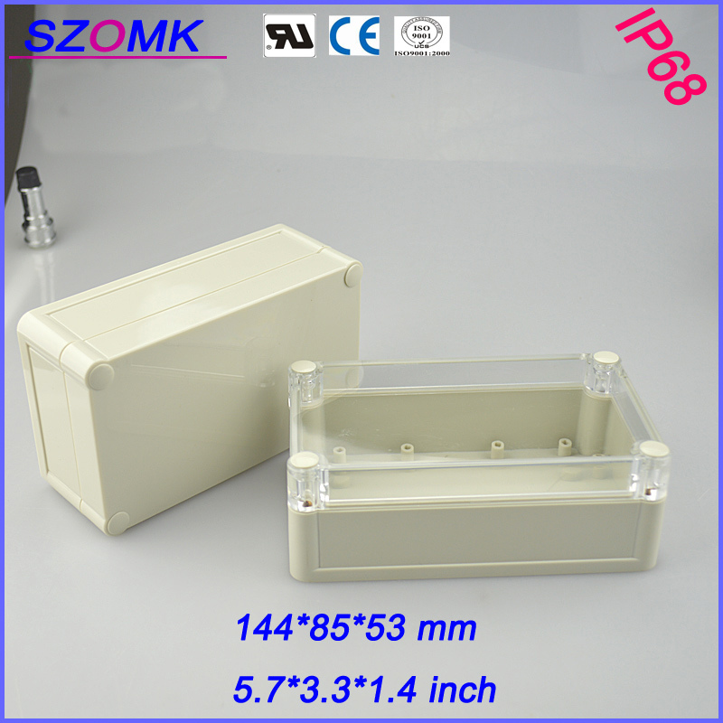 1 piece  High quality abs material Junction Box Plastic  electrical IP 68  waterproof  cabinet 144*85*51mm 5.7*3.3*1.4 inch 1 piece free shipping outdoor electrical junction box plastic case for electronic equipment ip 68 box 120x120x55 mm