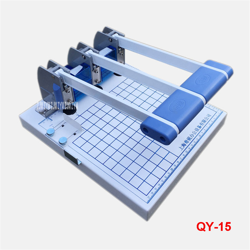 Three - Piece Binding Machine QY - 15 File Binding Machine Three - hole Punching Machine File Cover Binding Machine Hole 5mm a4 size comb type binding machine mars 230 manual rubber ring clamp dual use machine 21 hole file punch binding machine 1pc