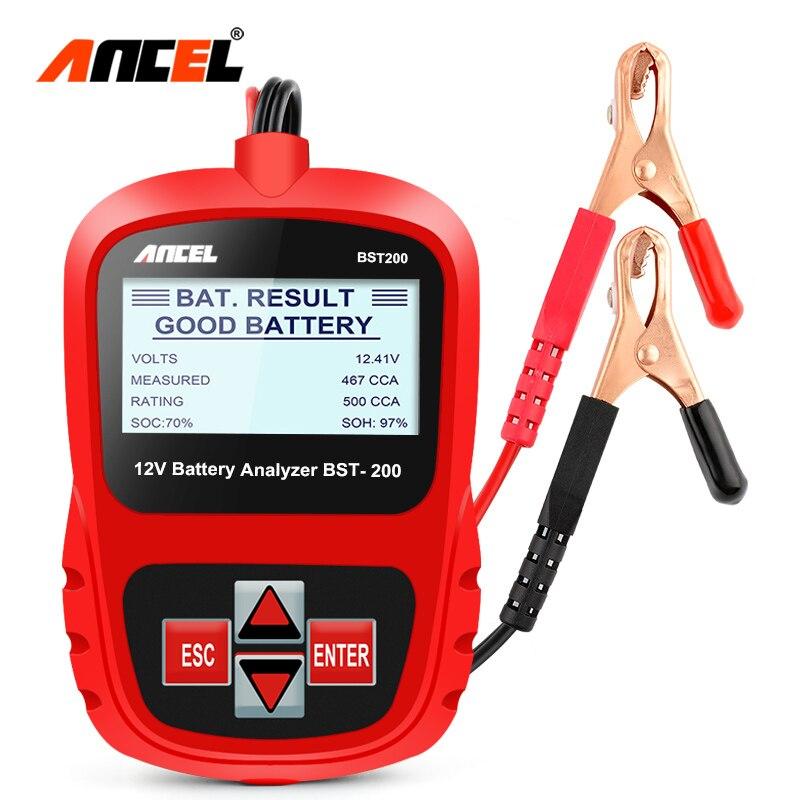 Ancel BST200 автомобильный аккумулятор тестер нескольких языков 12 В в ячейка 100-1100CCA 30-100Ah батарея система обнаружения Автомобильный диагностичес...