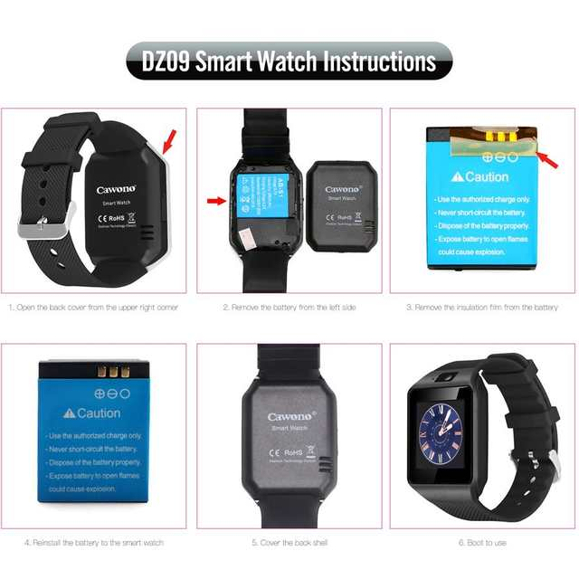 Cawono Bluetooth Relogio Smart Watch Dz09 Smartwatch Anti Lost Sim