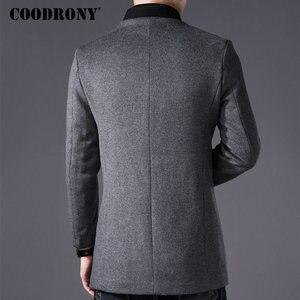 Image 3 - COODRONY Men Coat Winter Thick Warm Wool Coat Men Clothes 2019 Slim Fit Coat Mandarin Collar Jacket Mens Overcoat Mens Coats C03