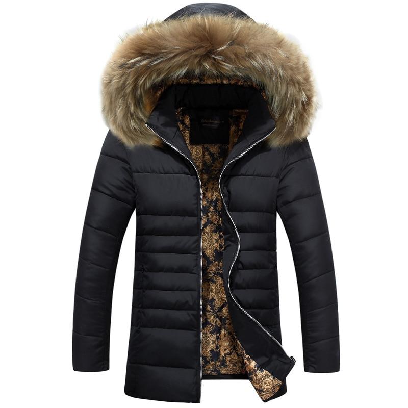 new trend fur hooded parka men doudoune homme hiver 2016. Black Bedroom Furniture Sets. Home Design Ideas