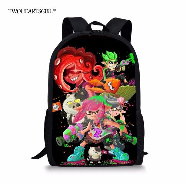 aca368e45d0c Cartoon Splatoon 2 Backpacks for Teenagers Boys Girls Cute Children School  Bag Junior Primary Kids Bagpack Bookbags Mochila
