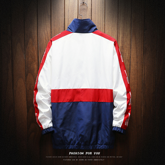 Hip Hop Spring Jackets Men Windbreaker Patchwork Autumn Loose Casual Jacket Male Coats Zipper Tracksuit Streetwear 4XL 5XL