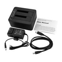 2,5/3,5 дюймов док-станция Dual SATA HDD 6 Гбит/с USB 3,0 externe met Оффлайн клон Functie HDD-дупликатор