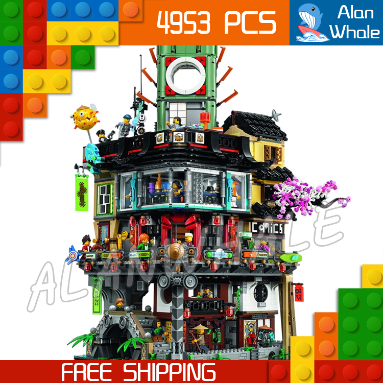 4953pcs New Ninja Great Creator City Construction 06066 Model Modular Building Blocks Teenagers Toys Bricks Compatible With lego decool 3117 city creator 3 in 1 vacation getaways model building blocks enlighten diy figure toys for children compatible legoe