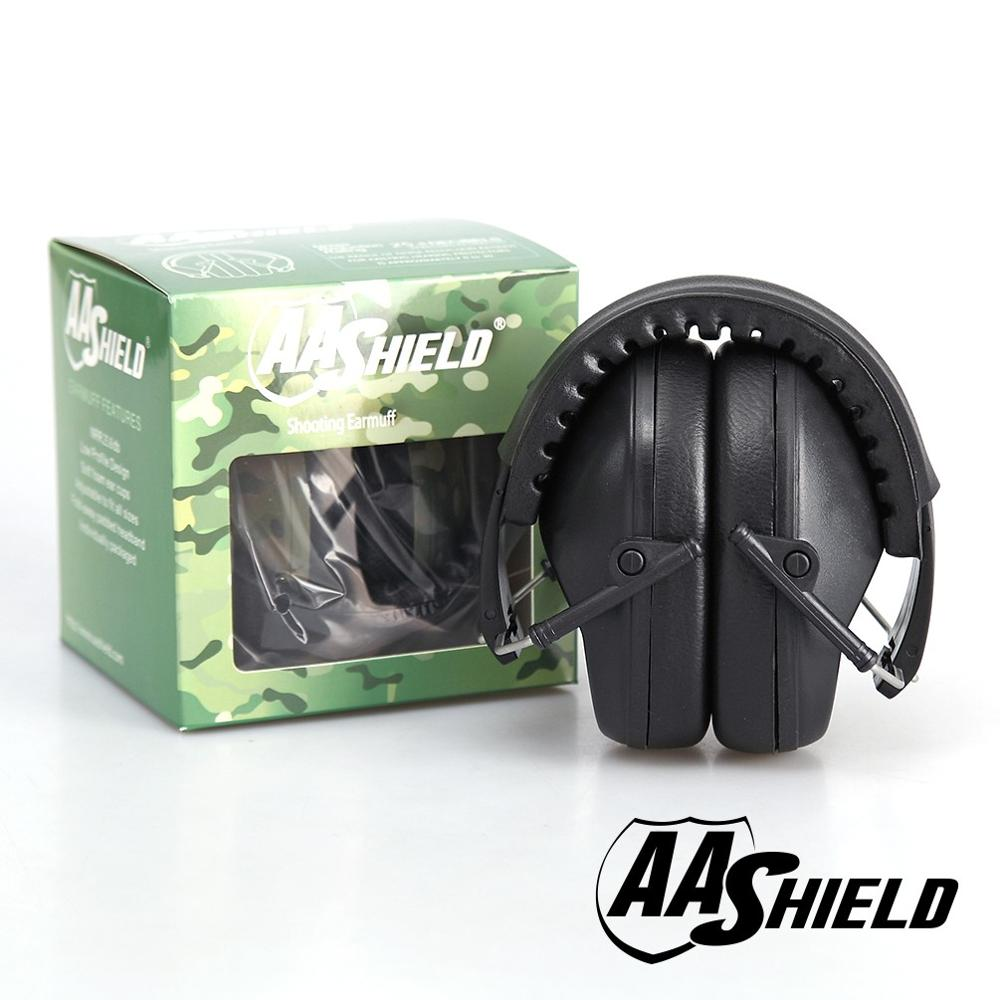 aa deco o mini 10л black AA Shield Soundproofing Mini Ear Muff Shooting Hearing Protector Noise Reduction Tools 25.8DB Black