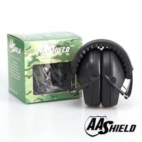 AA Shield Soundproofing Mini Ear Muff Shooting Hearing Protector Noise Reduction Tools 25.8DB Black