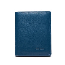 Фотография WEICHEN 2017 Men Wallets Luxury Leather Genuine Brand Famous Design Striped Blue Short Male Money Purse Card Clip Portfolio Man