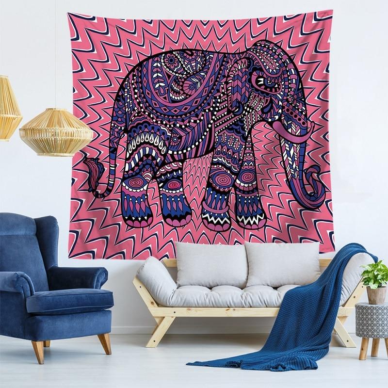 Flowers,Elephants Tapestry Mandala Indian Colorful tapestry Tenture Murale Blanket mandala Wall Hanging Tapiz pared 150x130cm