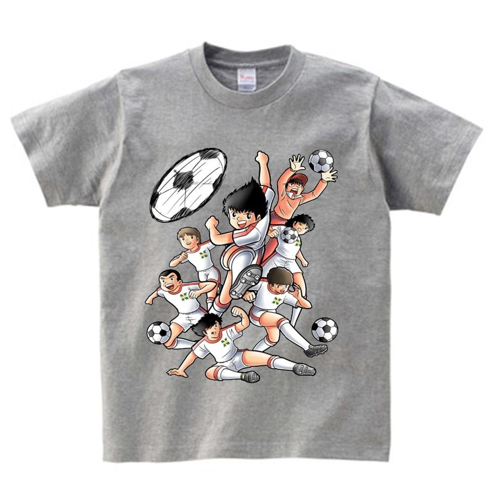 Anime Captain Tsubasa T Shirt Children Leisure Short Sleeve t shirt Boy Football motion T-shirts For Boys Girls 3T-8T NN 5