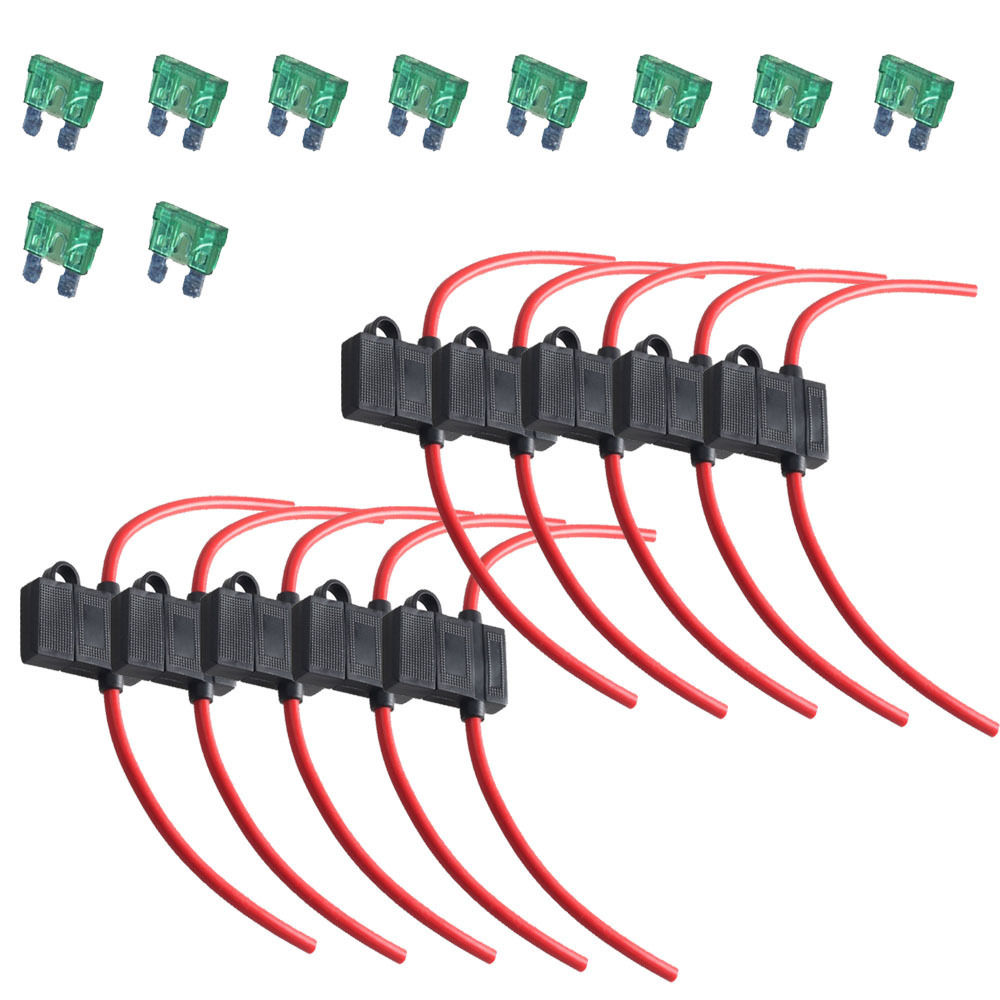 EE support 10Pcs 12 Gauge ATC Fuse Holder Box In Line Wire Copper 12V 30A  Blade Plug XY01-in Fuses from Automobiles & Motorcycles on Aliexpress.com  ...