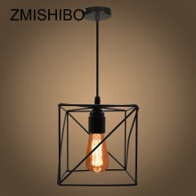 ZMISHIBO Unique Design Cube Iron Pendant Lights For Living Room 110V-220V E27 Home Suspension Luminaire  Decoration Hanging Lamp zmishibo spider shape 8 12 16 heads e27 110v 220v pendant lamp black iron ceiling droplights for living room lighting fixtures