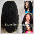Glueless Human Hair Full Lace Wig And Lace Front Wigs For Black Women Indian Human Hair Kinky Curly Wig Natural Black Kinky Curl