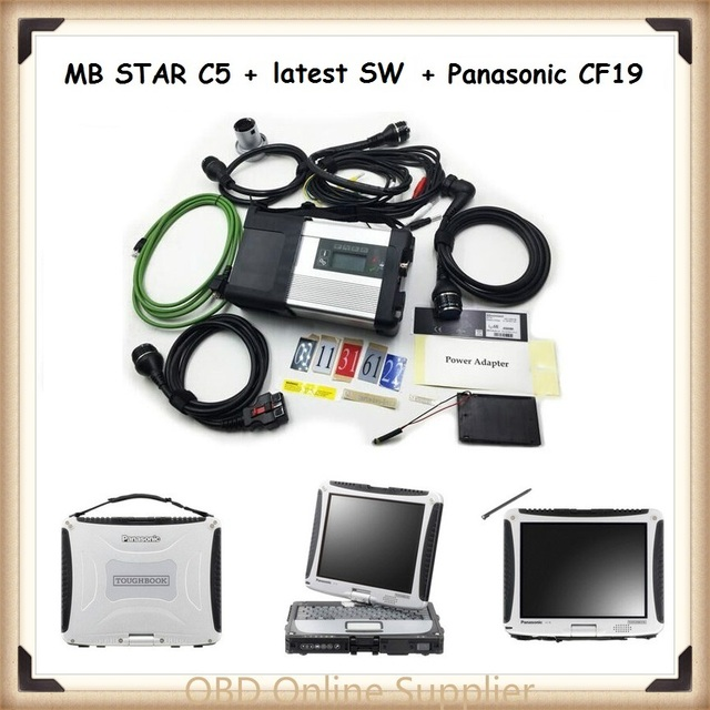 2017 MB Star C5 SD Conenct with Panasonic cf19 Laptop Toughbook Diagnostic PC with latest software Xentry/Vediamo/DTS Monaco8
