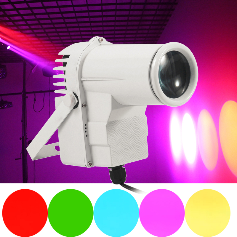 Colorful Beam Pinspot 9W RGB Change Color Spot Stage Light Led Lamp Portable Sound-activated DJ Party Bar Club Stage Lighting