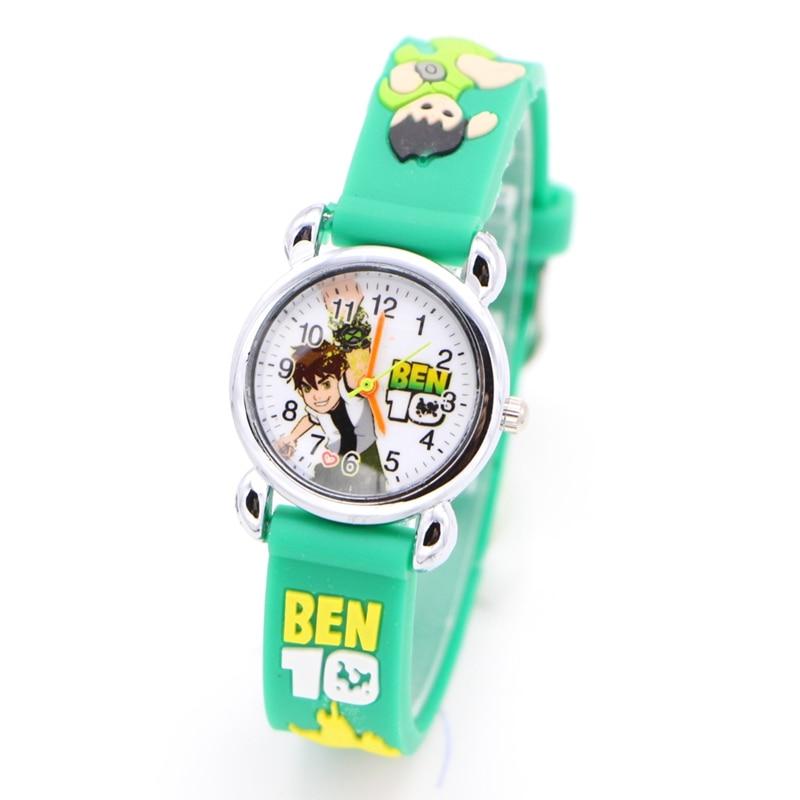 3D Cartoon Ben 10 Fashion Silicone Kids Watch Children Kids Girls Boys Students Quartz Wristwatches Relogio Infantil Gift