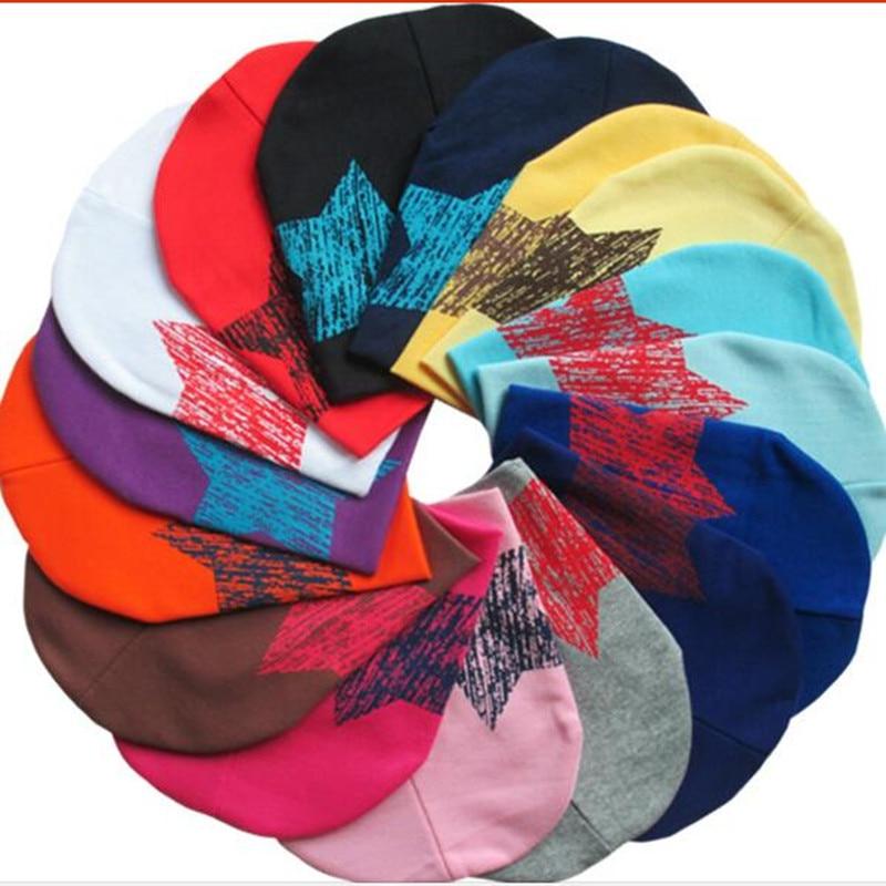 Reduction Sale.HOT NO 1  Fashion Star Cotton Children Hat Baby   Kids Winter Beanies Caps Wholesale