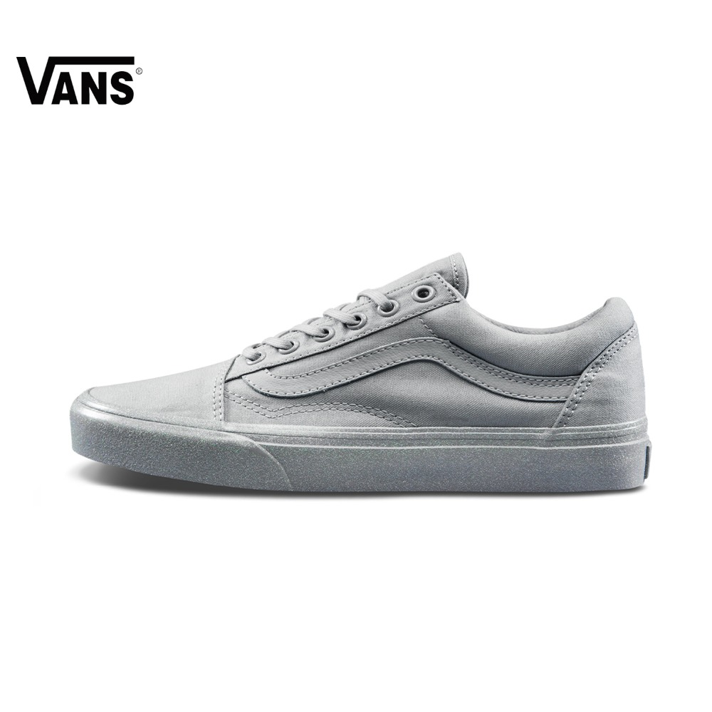 цены на Original Vans New Arrival Gray Color Low-Top Women's Old Skool Skateboarding Shoes Sport Shoes Sneakers free shipping в интернет-магазинах