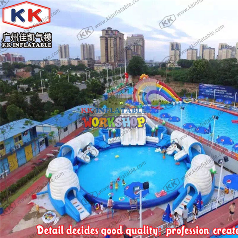 China Manufacturers Selling Slides Inflatable Ice And Snow Theme Water Park For Teenage