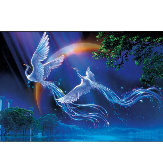 1000 pieces Cartoon Landscape Adult Thick Noctilucent Puzzle Paper Children Educational Toy Christmas Birthday Gift