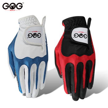 Rękawice golfowe GOG profesjonalna magiczna taśma pu antypoślizgowa konstrukcja oddychająca lewa ręka czerwony niebieski dla sportu na świeżym powietrzu tanie i dobre opinie D1ST004