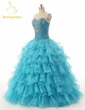 Женское бальное платье из органзы фиолетовое для девушек 15