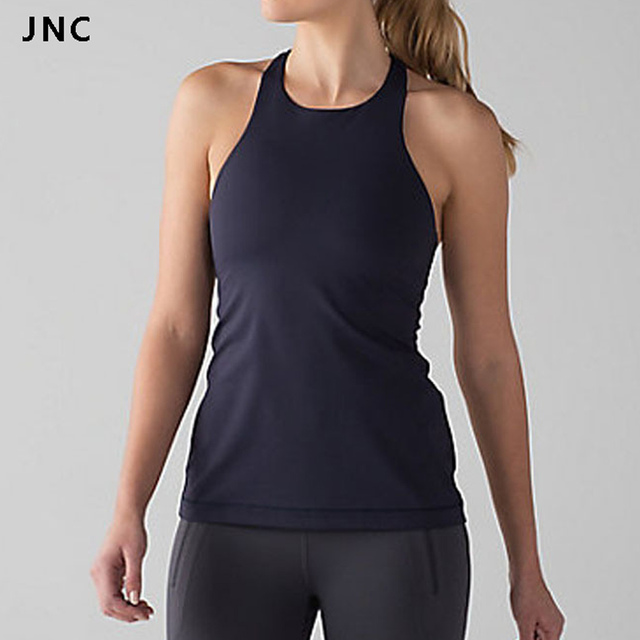 e5ce94f1d2 Solid Color Women High Impact Hot Yoga Tank Top Shirts Fitness Padded Bra  Sports Raceback Workout