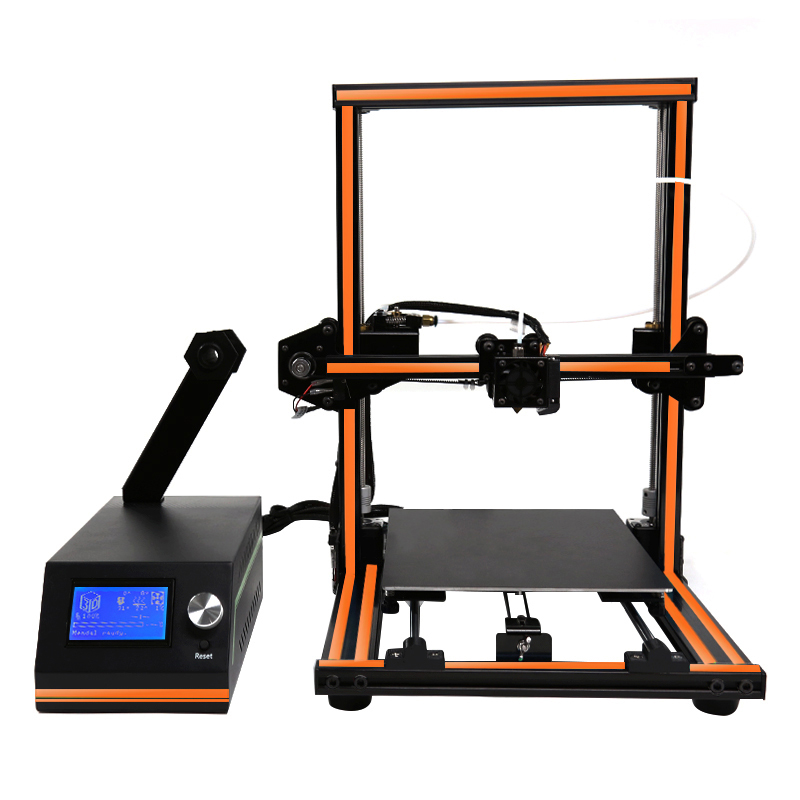 Анет E12 10 минут, чтобы в сборе плюс Размеры 3d принтер дистанционного кормления Дизайн элегантный Алюминий Frame Impresora 3d большой 12864 ЖК-дисплей