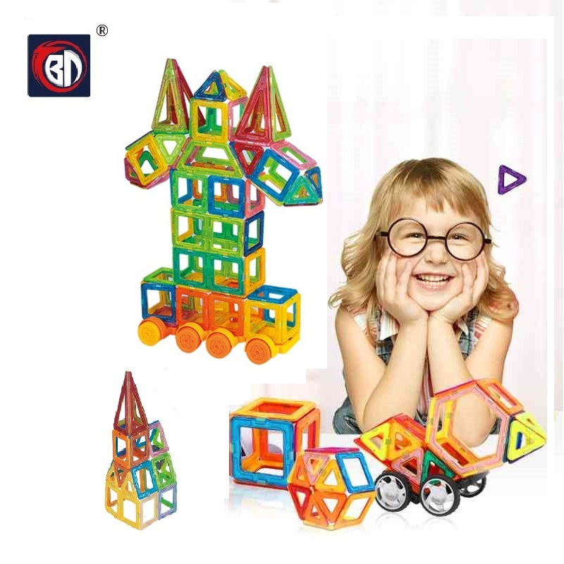164pcs Mini Magnetic Block Designer Construction Set Model & Building Toy Plastic Magnetic Blocks Educational Toys For Kids Gift qwz new 110pcs mini magnetic designer construction set model