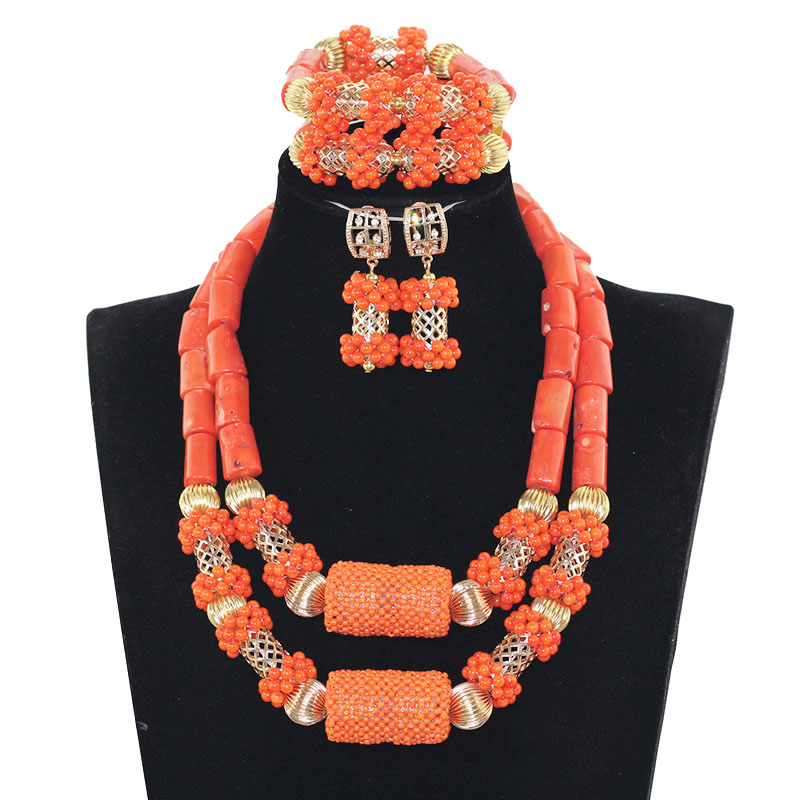 2017 Latest Coral Jewelry Sets Nigerian Indian Orange Necklace Sets of Beads African Bridal Jewelry Sets JB0602017 Latest Coral Jewelry Sets Nigerian Indian Orange Necklace Sets of Beads African Bridal Jewelry Sets JB060