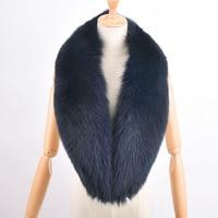 Fashion Genuine 100cm Big Fox Fur Collar Raccoon Fur Muffler Real Fur Scarf Accessory Women Wrap