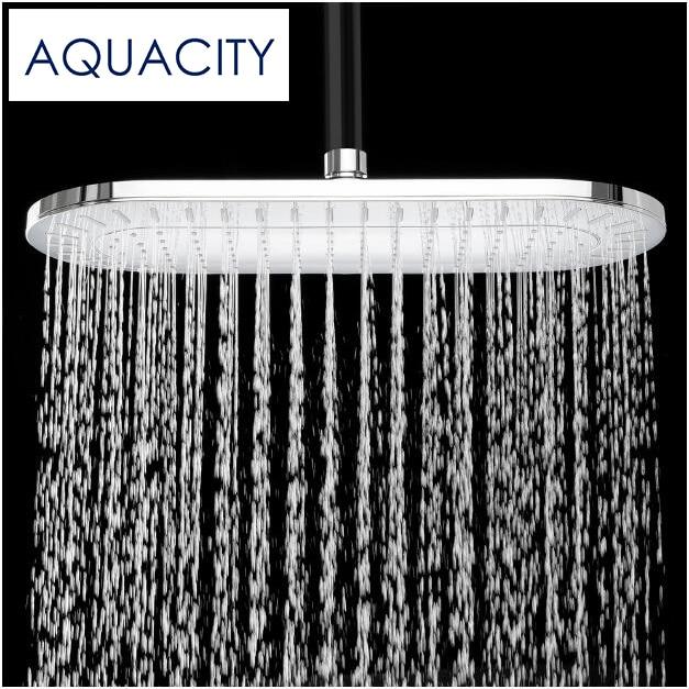 Free Shipping Rainfall Shower Head ABS Plastic Bathroom Shower  13.75 Inch Chrome Finish