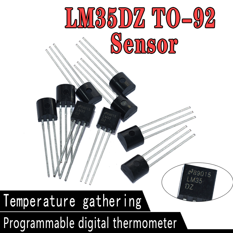 10 шт., прецизионные датчики температуры по Цельсию LM35DZ TO92 LM35 TO-92 LM35D