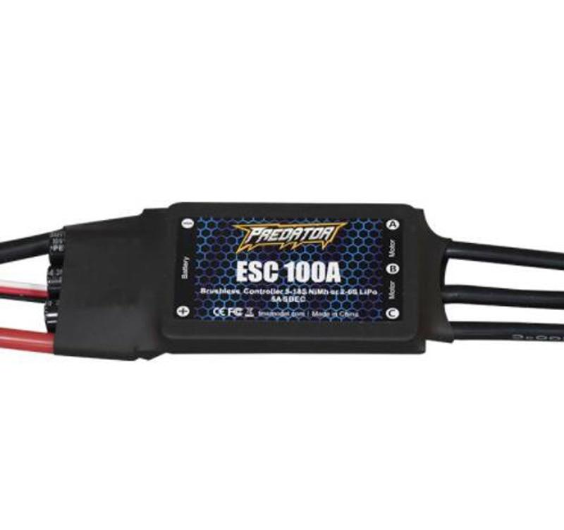 FMS Predator ESC 100A V2 Brushless Controller 5 18s NiMh 2 6S Lipo 5A SBEC Electronic
