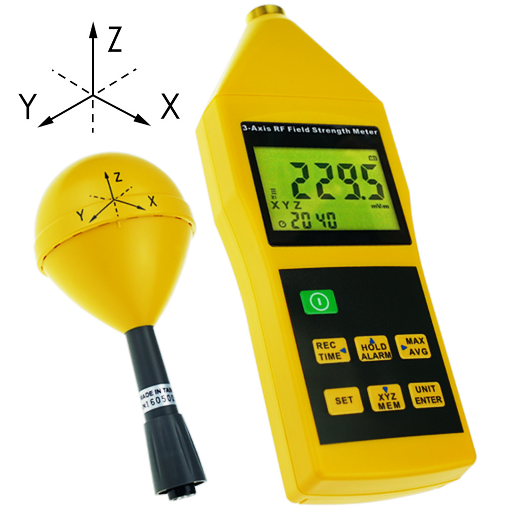 3 Axis RF Meter Electromagnetic Radiation Tester Detector 10MHz to 8GHz with Alarm and Tripod Mounting RF Field Strength Meter-in Level Measuring Instruments from Tools    1