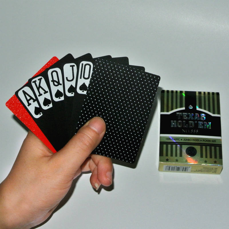 1pcs Black Plastic Cards PVC Poker Frosted Ware Resistant