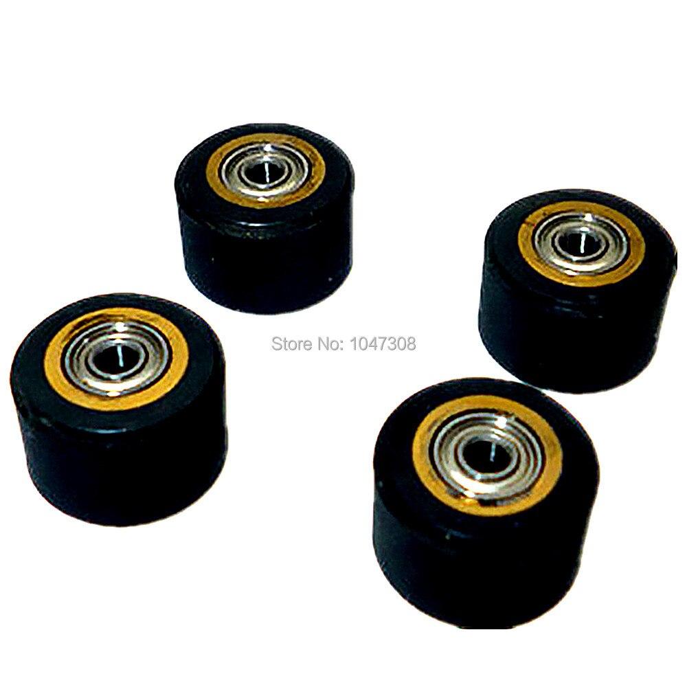 4pcs NEW  5X11x16mm vinyl cutter copper core pinch roller cutting plotter wheel paper wheel press roller rubber pinch roller  mata bor amplas