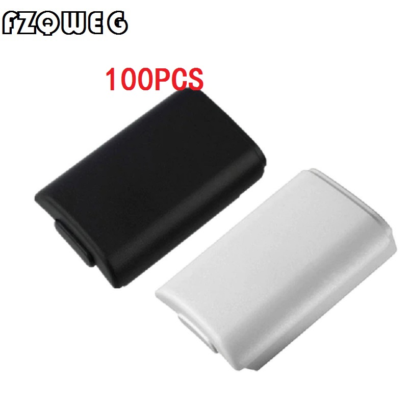 FZQWEG 100 PCSReplacement Battery Pack Cover Compartment Shell Shield Case Kits for Xbox 360 Wireless Controller