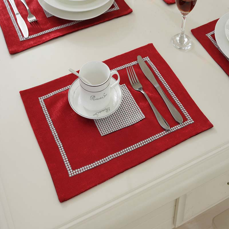 YGS-Y137 pvc placemat 1 pcs dining table mats set table bowl pad napkin