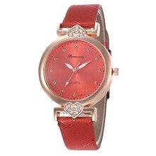 Hot Red Simple Dial Designer Womens Fashion Retro Watches Stylish  Brand Quartz Ladies Wristwatches Relogio Feminino