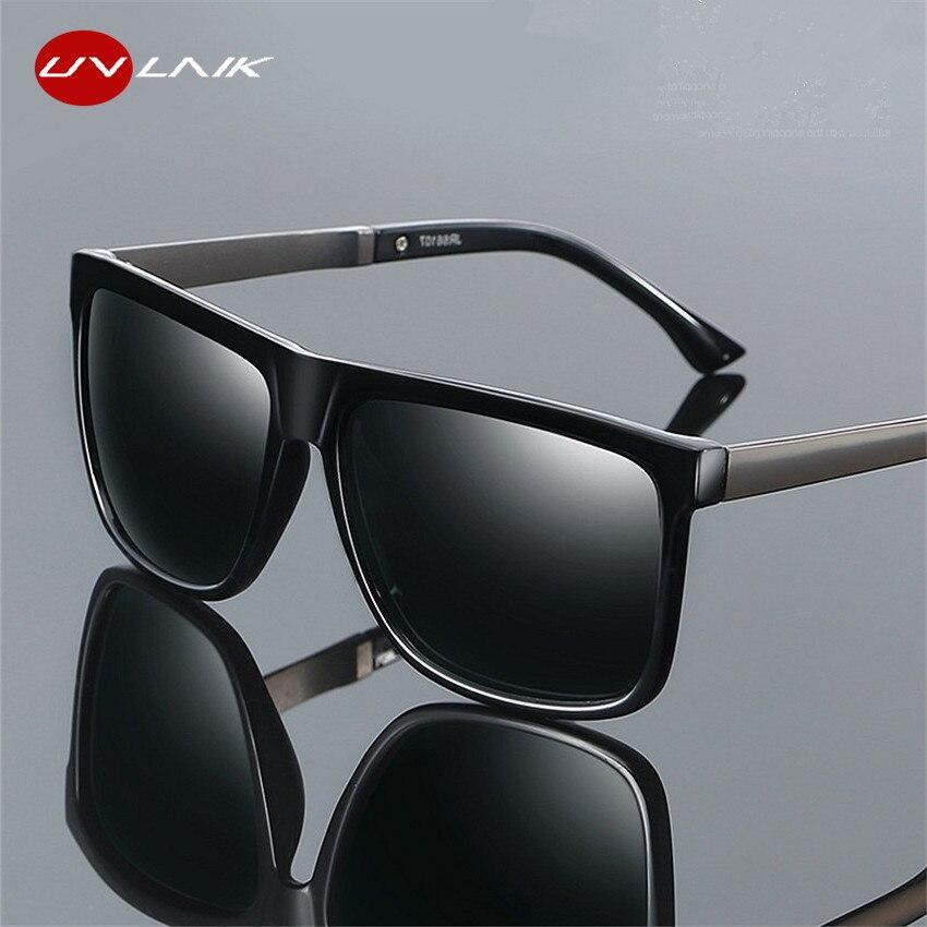 UVLAIK Polarized Sunglasses Men Driving Metal HD Sun Glasses Polaroid UV400 Sunglass Eyewear Goggles