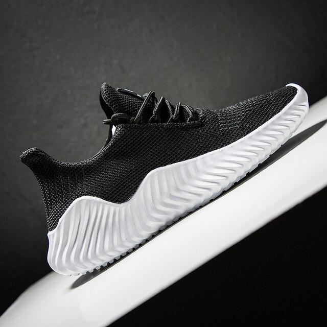 Hemmyi Sneakers Men Flyknit Breathable Casual Male 2
