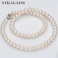 YIKALAISI 2017 fine 925 sterling silver Jewelry 100% natural freshwater pearl chokers necklaces best gifts for women weddings