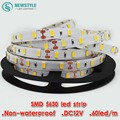 10m LED strip 5630 DC 12V flexible light 60 leds/m non waterproof Warm White smd 5630 300 leds strip lighting,Brighter than 5050