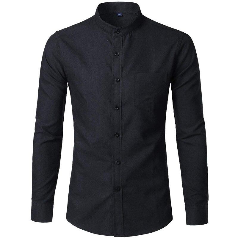 92c65912c3a3 Cotton Oxford Shirt Для мужчин 2018 новые весенние однотонные Цвет Для  мужчин s Мужская классическая рубашка